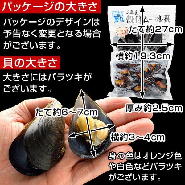 ムール貝 広島県産 国産 500g(15-25粒)を4パック まとめ買い|kamasho|02