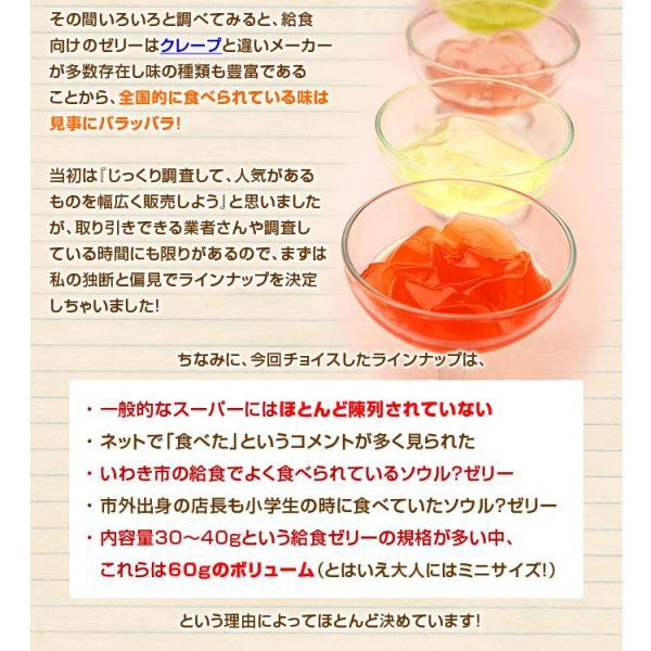 学校 給食 ゼリー 4種セット アセロラゼリー はちみつレモンゼリー ワインゼリー 青りんごゼリー 各5個 計20個|kamasho|05