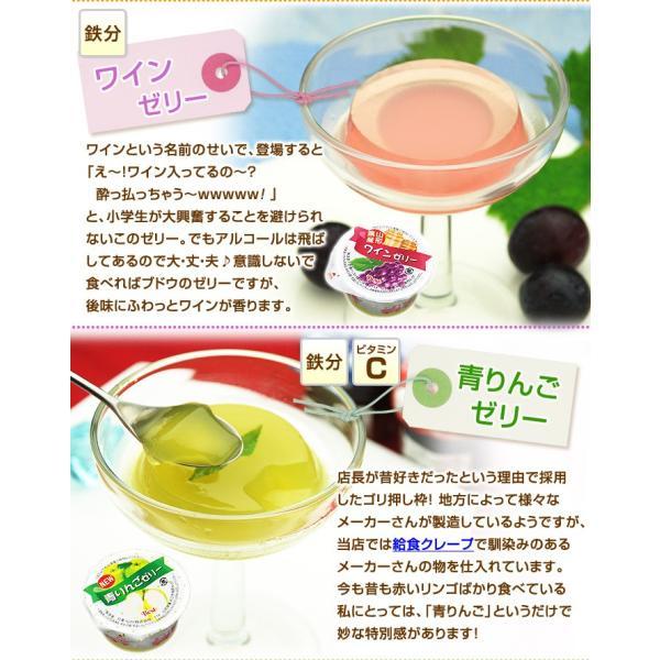 学校 給食 ゼリー 4種セット アセロラゼリー はちみつレモンゼリー ワインゼリー 青りんごゼリー 各5個 計20個|kamasho|07