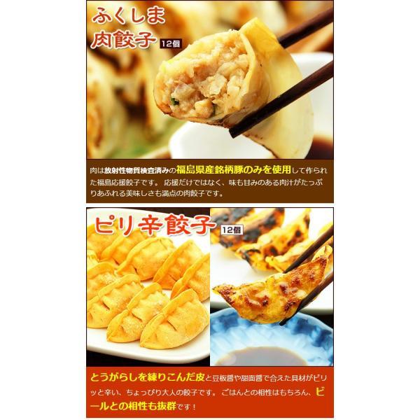 ふくしまギョーザ4種セット(肉餃子12ヶ、ピリ辛ぎょうざ12ヶ、ニンニクギョウザ12ヶ、ニラ餃子12ヶ)|kamasho|05