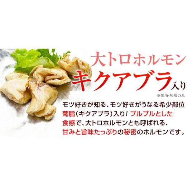 ホルモン 焼肉 ホルモン焼 福島 ホルモン お試し セット 豚ホルモン 菊脂 キクアブラ 福島県産 醤油2パック 味噌2パック 塩がつ1パック|kamasho|05