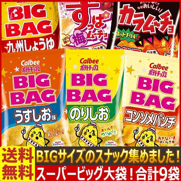 送料無料 あすつく対応 スーパービッグ大袋!ビッグサイズのスナック菓子 10種類合計10袋詰め合わせセット お菓子 詰め合わせ ポテトチップス