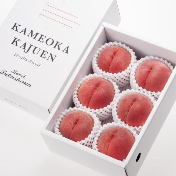 桃 福島県桑折町産 さくら白桃 ギフト品 約2kg(4〜6個) 農家直送 ふくしまプライド。体感キャンペーン(果物/野菜)|kameokakajuen|02