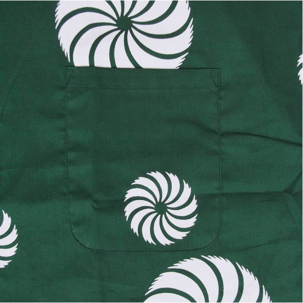 鯉口シャツ 祭り ダボシャツ メンズ レディース 浴衣地 緑 獅子毛 鯉口シャツ 祭り用品|kameya|03