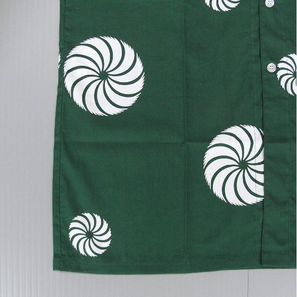 鯉口シャツ 祭り ダボシャツ メンズ レディース 浴衣地 緑 獅子毛 鯉口シャツ 祭り用品|kameya|04