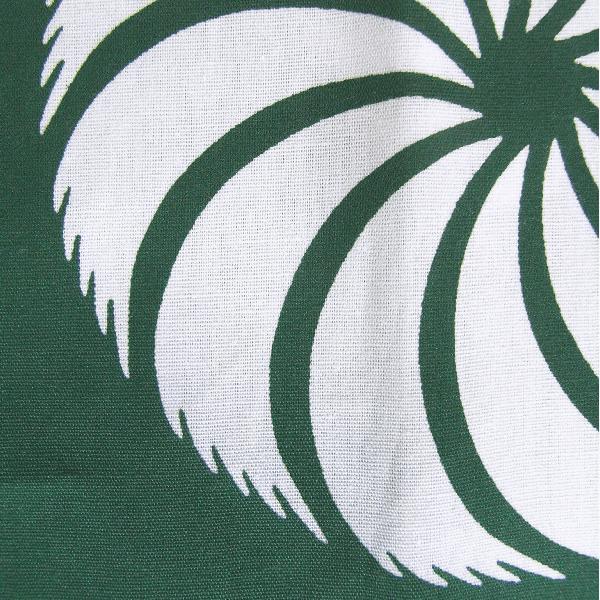 鯉口シャツ 祭り ダボシャツ メンズ レディース 浴衣地 緑 獅子毛 鯉口シャツ 祭り用品|kameya|05