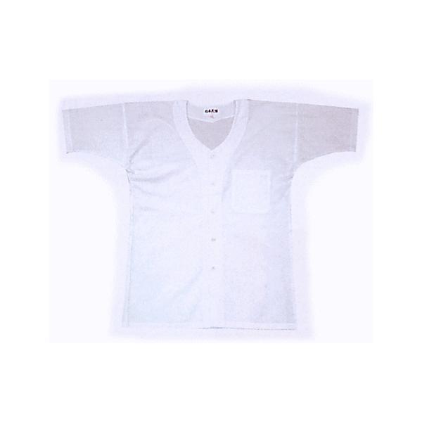 鯉口シャツ 祭り ダボシャツ メンズ レディース 半袖 真夏用 白 鯉口シャツ 祭り用品 kz-LL|kameya