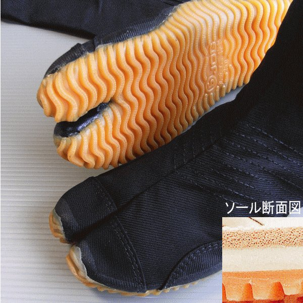 足袋 祭り たび 祭足袋 ジョグ 地下足袋 祭り足袋 黒 ロング 12枚鞐 まつり 祭り用品 〜30cm nmd-5933|kameya|02
