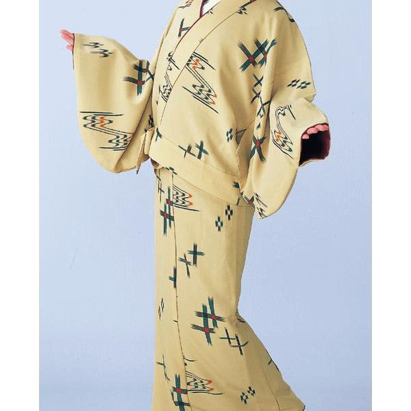 二部式着物 レディース 袷 セパレート 2部式 着物 旅館 ユニフォーム 洗える着物 崩れ井絣 kameya 02