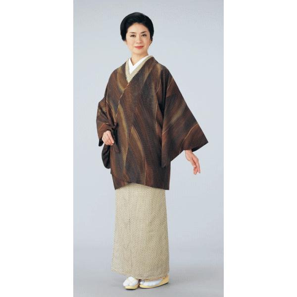 道中着 レディース 小紋 リバーシブル 着物 コート 和装 おしゃれ道中着 流水|kameya