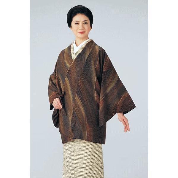 道中着 レディース 小紋 リバーシブル 着物 コート 和装 おしゃれ道中着 流水|kameya|02