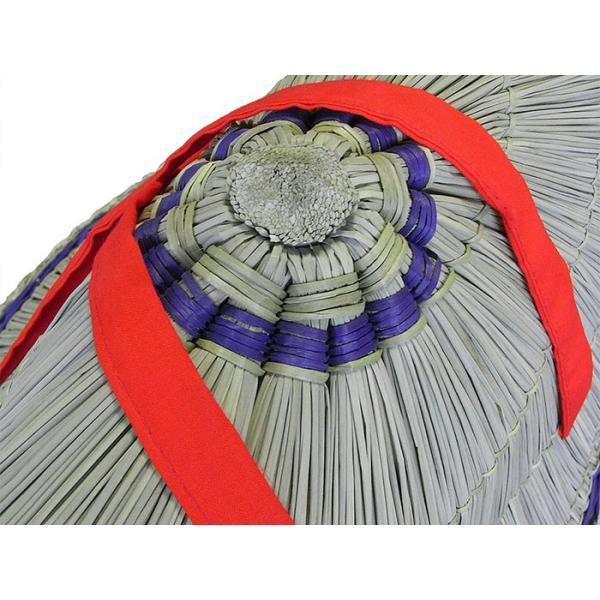 おけさ笠 編み笠 あみ笠 阿波おどり 阿波踊り 笠 祭り 小道具 踊り 紐赤|kameya|02