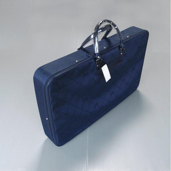 着物バッグ 和装バッグ 衣裳鞄 衣装 バッグ 着物 鞄 和装 かばん 横長型 ジャガード 紺 エンジ npd-5518-19|kameya
