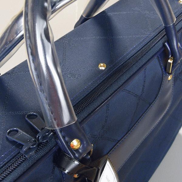 着物バッグ 和装バッグ 衣裳鞄 衣装 バッグ 着物 鞄 和装 かばん 横長型 ジャガード 紺 エンジ npd-5518-19|kameya|02