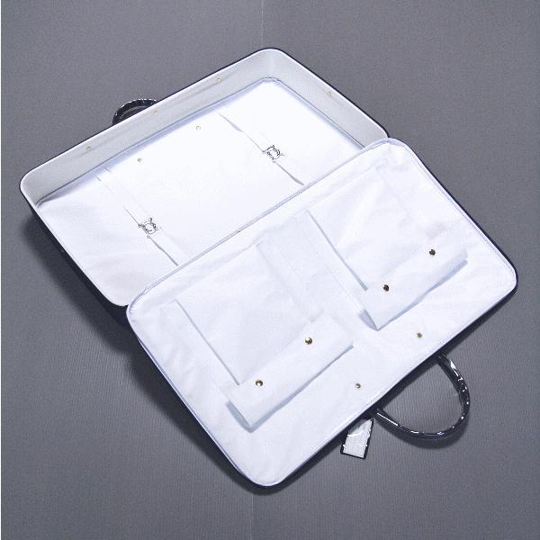 着物バッグ 和装バッグ 衣裳鞄 衣装 バッグ 着物 鞄 和装 かばん 横長型 ジャガード 紺 エンジ npd-5518-19|kameya|04