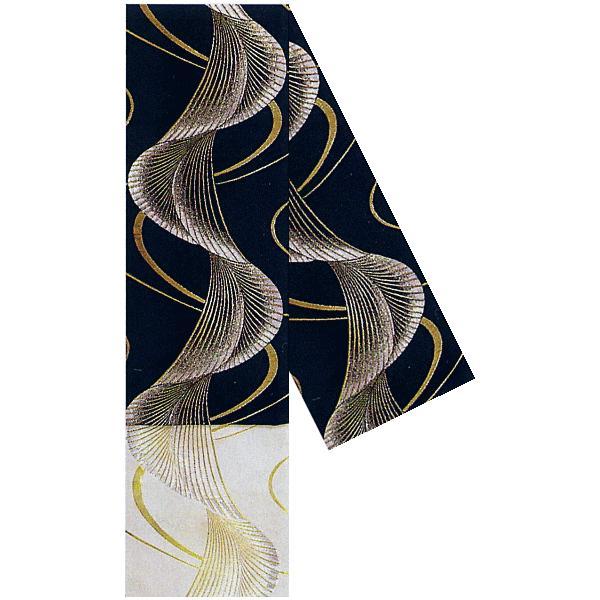 四寸踊り帯(幅15cm×長さ350cm・織帯/黒地流水・流水) 華やかなバーシブル踊り帯 踊り帯 日本舞踊 歌舞伎 舞台 ステージ用帯 着物 和装 浴衣帯|kameya