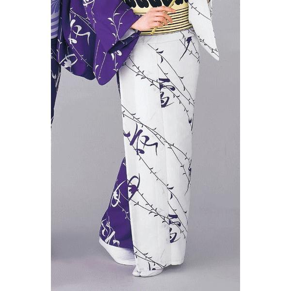 着物 片身替わり着物 女性 女物 単衣 納期35日 踊り 舞踊 着物 洗える着物 白 紫|kameya|03