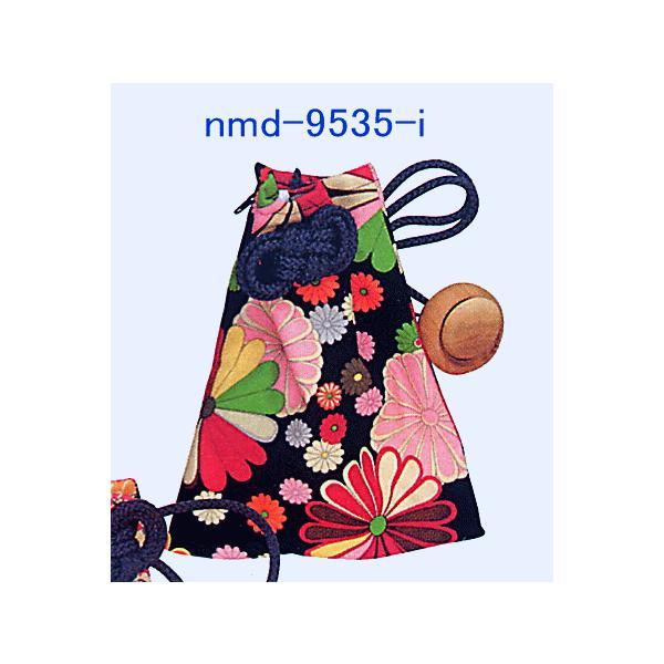 巾着 袋 バッグ ポーチ きんちゃく 祭り 巾着袋 カラフル ファスナー 花柄5種|kameya|02