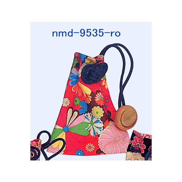 巾着 袋 バッグ ポーチ きんちゃく 祭り 巾着袋 カラフル ファスナー 花柄5種|kameya|03