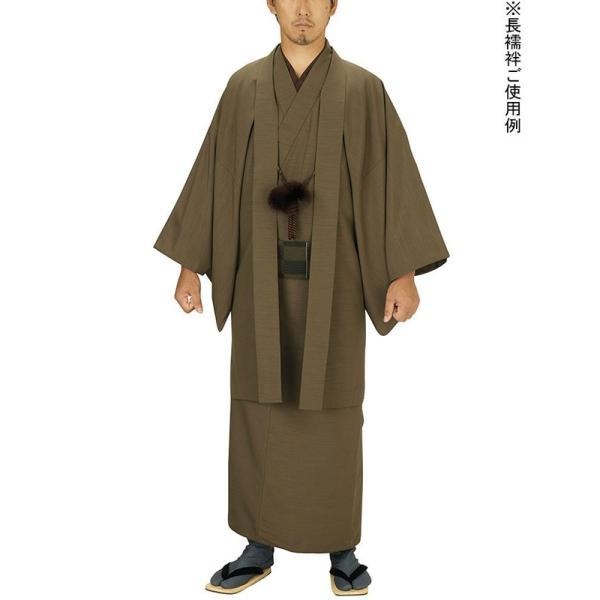 長襦袢 和装下着 男性 メンズ 抜群の裾さばき 洗える長襦袢 茶 M L LL|kameya|02