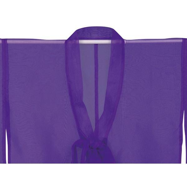 羽織 はおり 紗 オーガンジー レース ショール ストール 踊り 舞台 パーティー 無地羽織 紫|kameya|03
