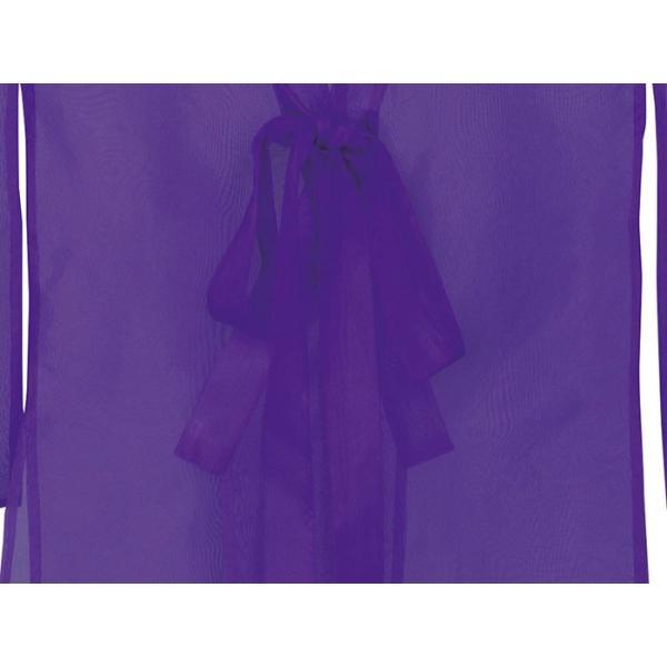 羽織 はおり 紗 オーガンジー レース ショール ストール 踊り 舞台 パーティー 無地羽織 紫|kameya|04