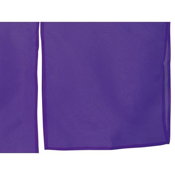 羽織 はおり 紗 オーガンジー レース ショール ストール 踊り 舞台 パーティー 無地羽織 紫|kameya|05