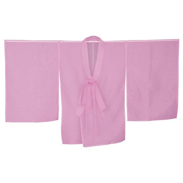 羽織 はおり 紗 オーガンジー レース ショール ストール 踊り 舞台 パーティー 無地羽織 ピンク|kameya