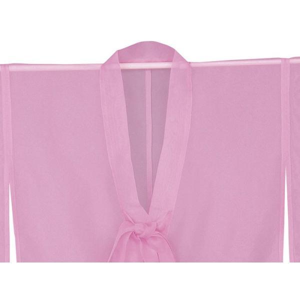 羽織 はおり 紗 オーガンジー レース ショール ストール 踊り 舞台 パーティー 無地羽織 ピンク|kameya|03