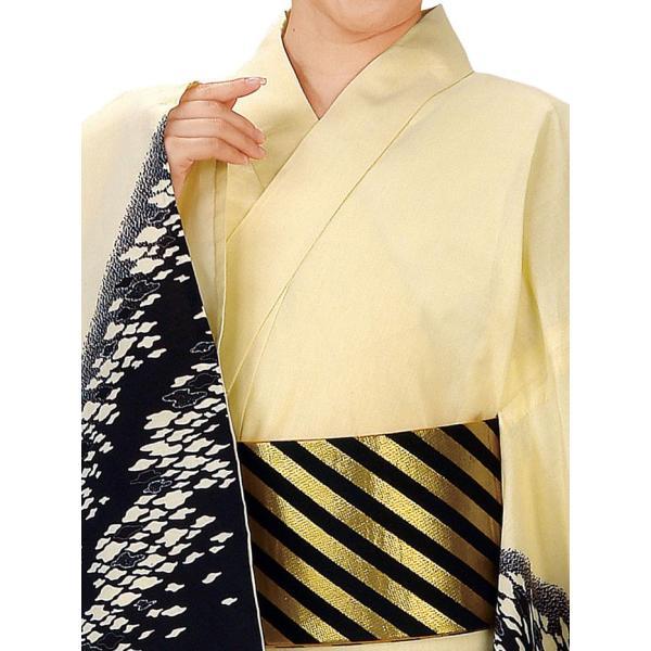 浴衣 ゆかた 反物 レディース メンズ 盆踊り 祭り ユカタ 踊り 絵羽浴衣 薄黄色 鱗雲