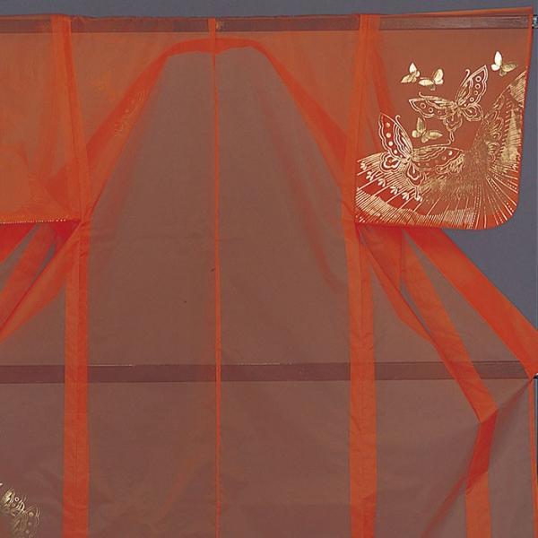 被衣 かつぎ かずき 踊り 衣被 きぬ かつぎ 日本舞踊 歌舞伎 オレンジ 蝶 金箔|kameya|02
