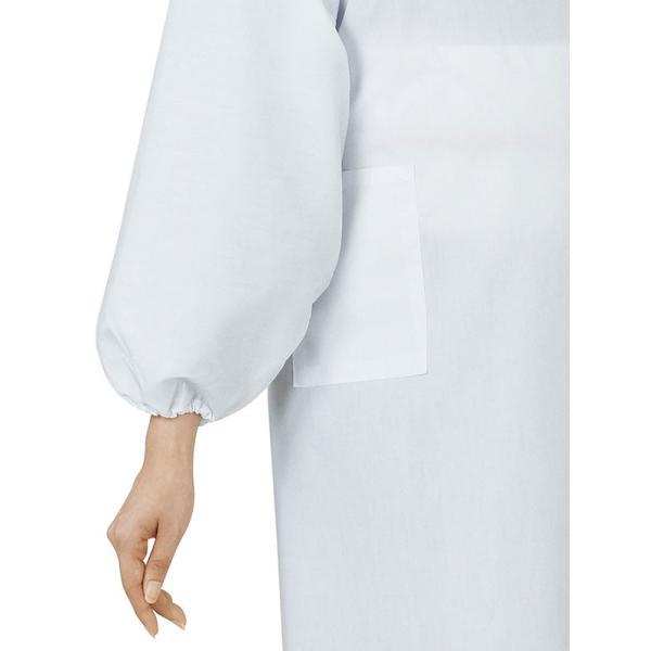 割烹着 かっぽう着 和風 和装 エプロン 着物 和服 華道 茶道 割烹着  ロング 白|kameya|03