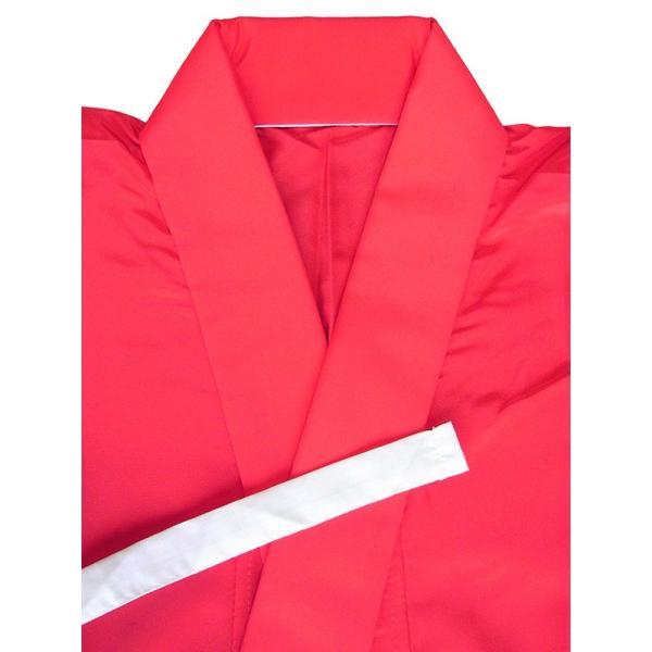 二部式襦袢 半襦袢 東スカート レディース 洗える二部式長襦袢 赤 M L|kameya|02