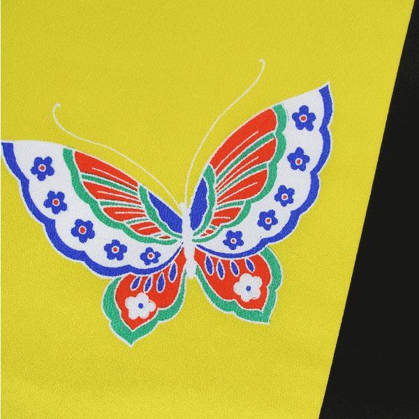 昼夜帯(幅30cm×長さ400cm・黄地に蝶) 踊り帯 日本舞踊 歌舞伎 舞台 ステージ用帯 着物 和装 成人式帯 舞子 引きずり着物用帯|kameya|03