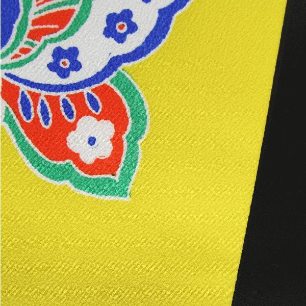 昼夜帯(幅30cm×長さ400cm・黄地に蝶) 踊り帯 日本舞踊 歌舞伎 舞台 ステージ用帯 着物 和装 成人式帯 舞子 引きずり着物用帯|kameya|04
