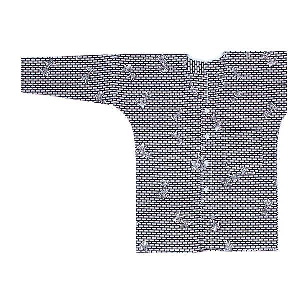 鯉口シャツ 祭り ダボシャツ メンズ レディース 浴衣地 レンガ 鯉口シャツ 祭り用品|kameya
