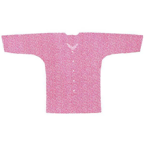 鯉口シャツ 祭り ダボシャツ メンズ レディース 小紋 ピンク 松葉 鯉口シャツ 祭り用品 kameya