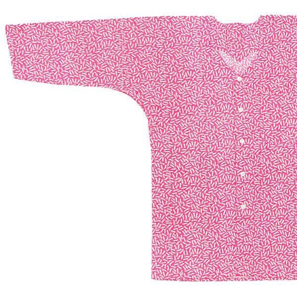 鯉口シャツ 祭り ダボシャツ メンズ レディース 小紋 ピンク 松葉 鯉口シャツ 祭り用品 kameya 02