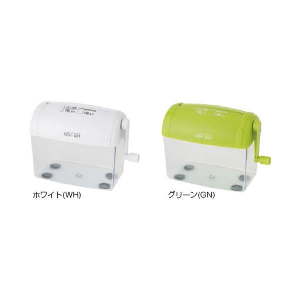 ナカバヤシハンドシュレッダー(手動・手回しハンドシュレッダー)クルッキル ストレートはがきサイズ(A6サイズ)対応コンパクトタイプ(NSH-S01)