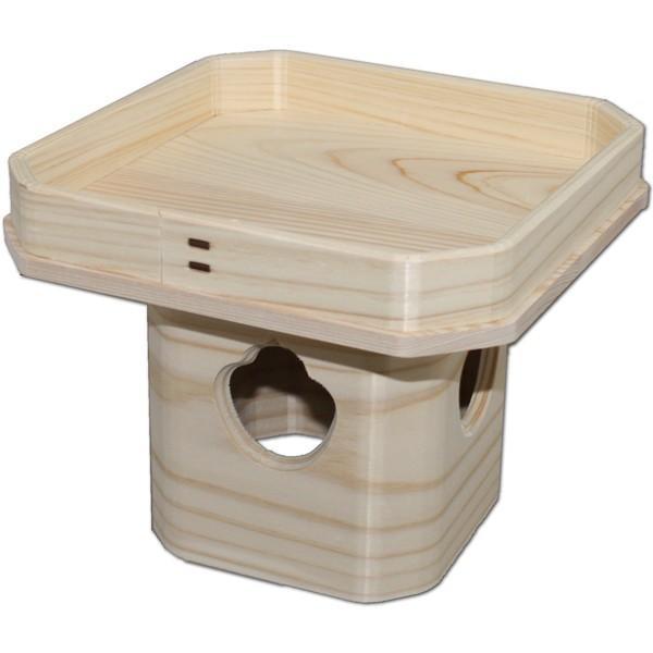吉野桧使用 ひのき三宝 6号(高さ14.5cm/巾18.7×18.7cm) お正月の鏡餅台 神具 三方