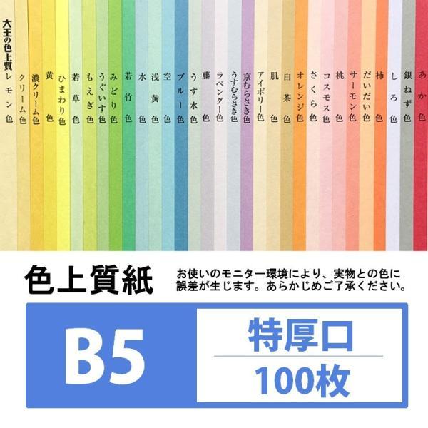 (色画用紙) 色上質紙 特厚口 B5 100枚入り