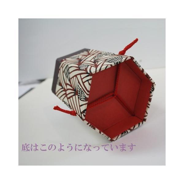 型染和紙 六角小物入れ メガネ入れ リモコン入れ kamon-sakuraya 03