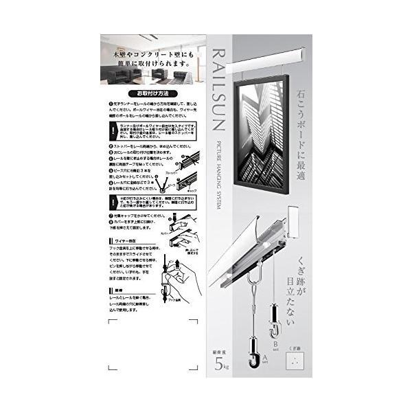 福井金属工芸 額を飾るのに便利 レールサン ピクチャーレール 壁面用 L=100? Bセット WRS-100B|kamoshika|04