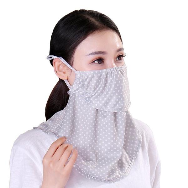 フェイスマスク uvカット 紫外線対策 日焼け防止 UVカット 大判フェイスマスク UVガード やわらかフェイスマスク ベージュ アイデア kamoshika
