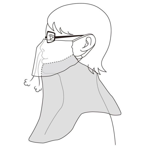 フェイスマスク uvカット 紫外線対策 日焼け防止 UVカット 大判フェイスマスク UVガード やわらかフェイスマスク ベージュ アイデア kamoshika 05