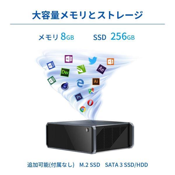 CHUWI GTBox Windows10 OSミニPCメモリー8GBDDR3 256GB SSD Office 1TB SSD RS4内蔵|kamoshika