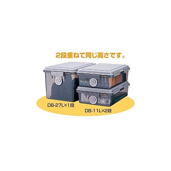 ナカバヤシ キャパティ ドライボックス 防湿庫 カメラ保管 11L グレー DB-11L-N|kamoshika|09