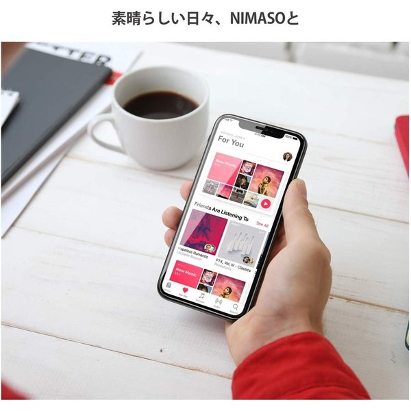 ガイド枠付き 1枚セット Nimaso iPhone 11 / iPhone XR 用 全面保護フィルム 強化ガラス フルカバー保護フィルム|kamoshika|06