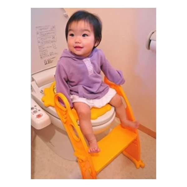 おまる 補助便座 リトルプリンセス かえるのふかふか ステップ式トイレトレーナー ベビー 赤ちゃん baby 1歳|kamoshikanet|10