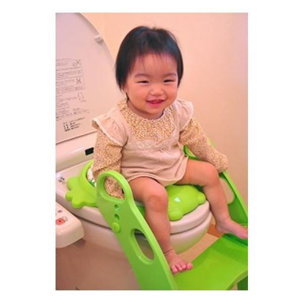 おまる 補助便座 リトルプリンセス かえるのふかふか ステップ式トイレトレーナー ベビー 赤ちゃん baby 1歳|kamoshikanet|11